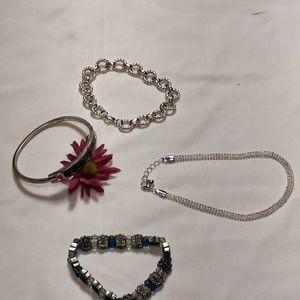 Silver look Bracelets